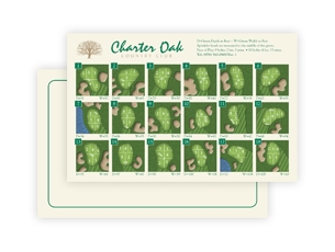 Charter Oak Country Club - Pin Placement Card