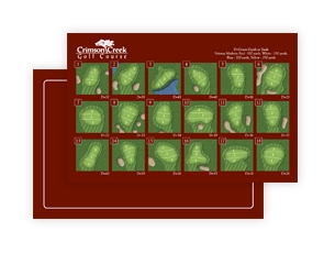 Crimson Creek Golf Course - Pin Placement Card
